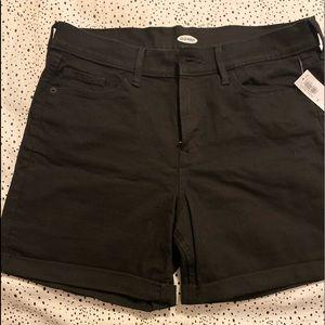 Women Size 10 Black Jean Old Navy Shorts